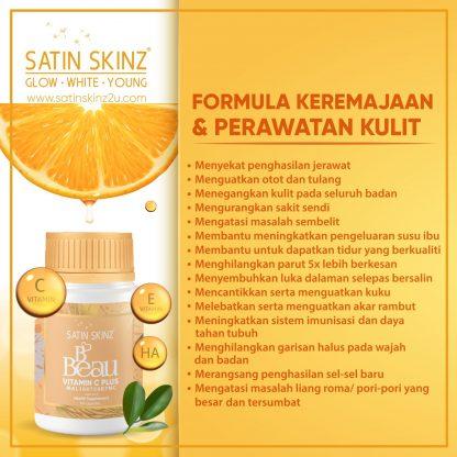 satin skinz bbeau vitamin c rawatan kulit