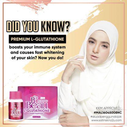 satin skinz glutathione skin whitening